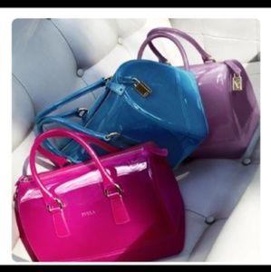 Furla pink jelly bag  👜